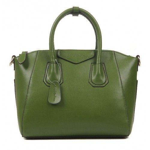 Женская кожаная сумка So stylish зеленая