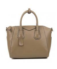 Женская кожаная сумка So stylish3 серая