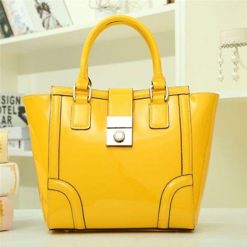 Женская кожаная сумка Lila1 желтая