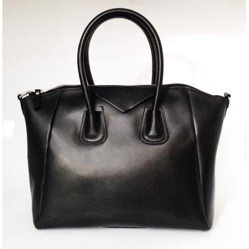 Женская кожаная сумка Central1 черная