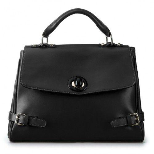 Женская кожаная сумка Persona черная