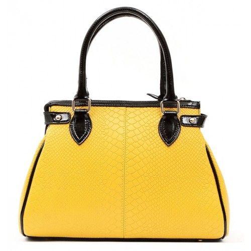 Женская кожаная сумка Charm желтая