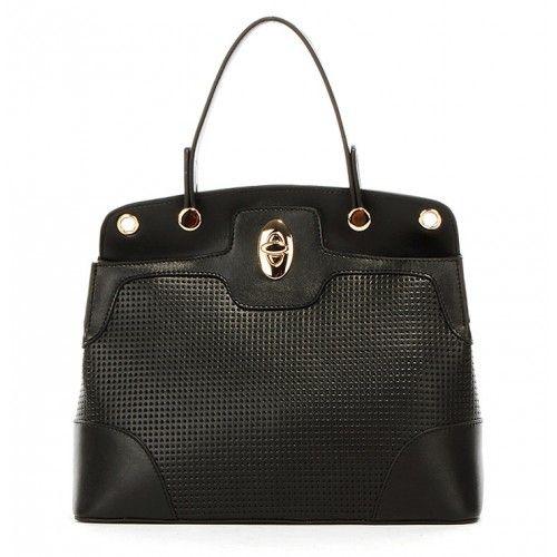 Женская кожаная сумка City1 черная