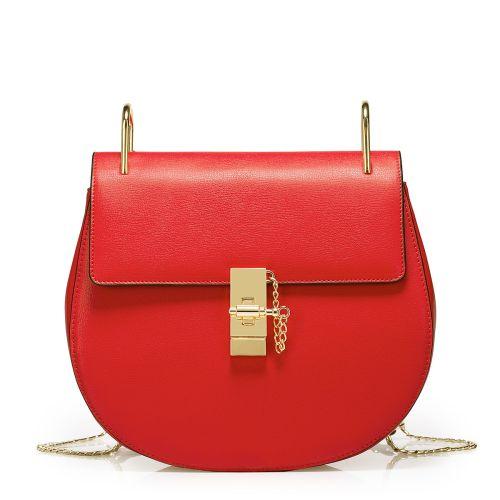 Женский кожаный клатч Mood1 красный