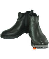 Женские кожаные ботинки Z-43-01 черные