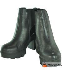 Женские кожаные ботинки gsk-43 черные