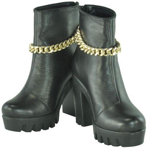Женские кожаные ботинки gvk-47 черные