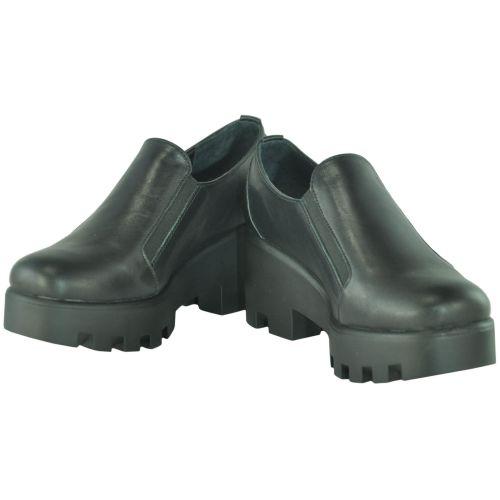 Женские кожаные туфли gsk-32 черные