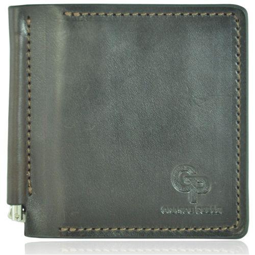 Кожаный зажим Grande Pelle m-6 коричневый
