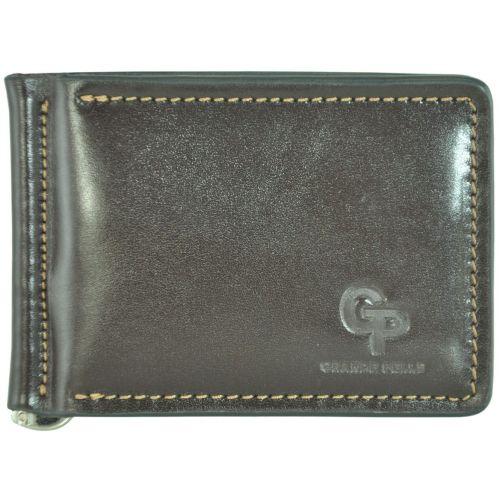 Кожаный зажим Grande Pelle g-6m коричневый