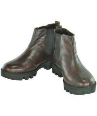 Женские кожаные ботинки gnk-43 коричневые