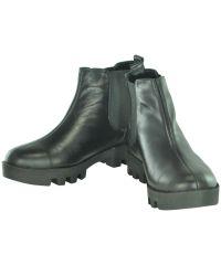Женские кожаные ботинки gnk-43 черные