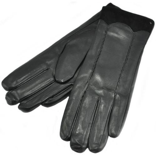 Женские перчатки волна черные