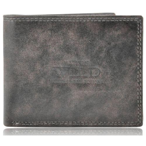 Мужской кожаный кошелек N992-MCR серый