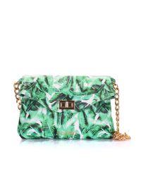 Женский кожаный клатч poolparty-palm-clutch зеленый