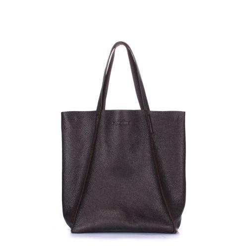 Женская кожаная сумка poolparty-edge-brown коричневая