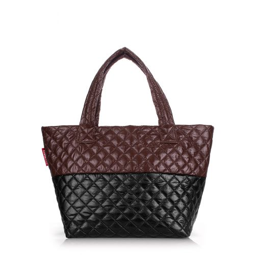 Стеганая сумка POOLPARTY Broadway broadway-quilted-brown-black