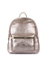 Рюкзак женский кожаный POOLPARTY Xs xs-bckpck-leather-gold