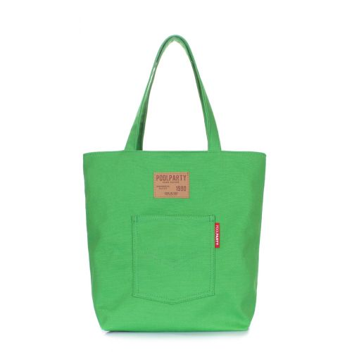Коттоновая сумка POOLPARTY Arizona arizona-green