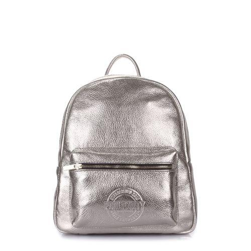 Рюкзак женский кожаный POOLPARTY Xs xs-bckpck-leather-silver