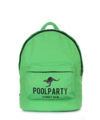 Рюкзак молодежный POOLPARTY backpack-kangaroo-green