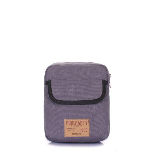 Мужская сумка на плечо POOLPARTY extreme-grey