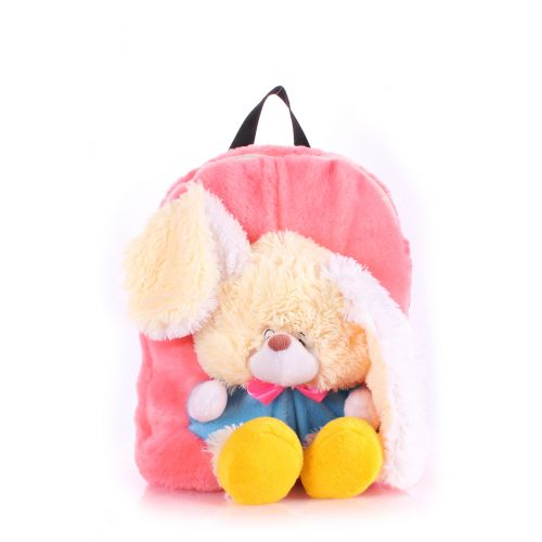 Детский рюкзак POOLPARTY с зайцем kiddy-backpack-rabbit-rose