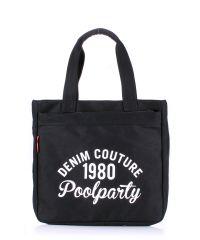Коттоновая сумка POOLPARTY Oldschool pool-old-school-black