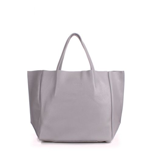 Кожаная сумка POOLPARTY Soho soho-grey