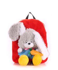 Детский рюкзак POOLPARTY с зайцем kiddy-backpack-rabbit-red