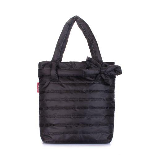 Дутая сумка POOLPARTY bow-black-new