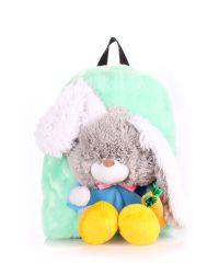Детский рюкзак POOLPARTY с зайцем kiddy-backpack-rabbit-green