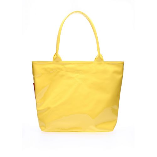 Лаковая сумка POOLPARTY pool7-laque-yellow
