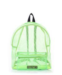 Рюкзак молодежный POOLPARTY backpack-mesh-green