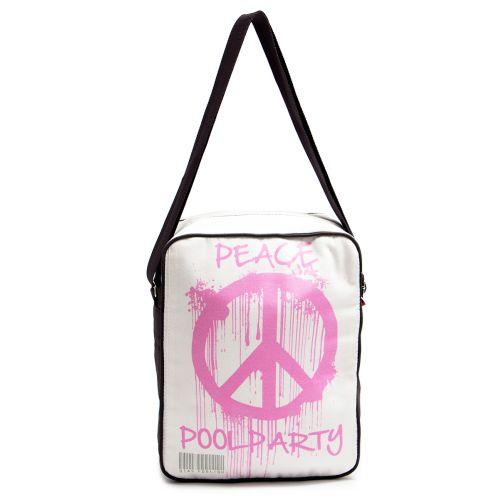 Мужская сумка POOLPARTY Peace с ремнем на плечо pool-18-peace