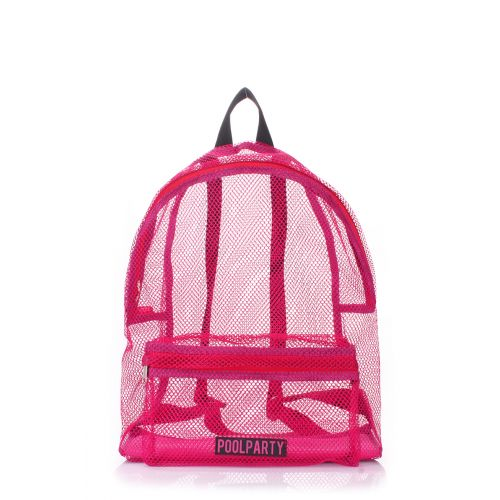 Рюкзак молодежный POOLPARTY backpack-mesh-pink