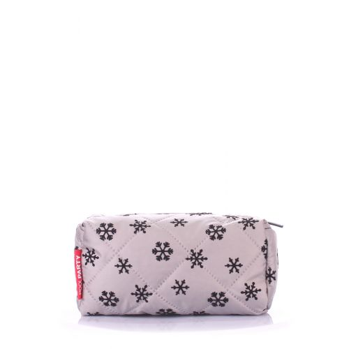 Косметичка POOLPARTY cosmetic-snow-grey