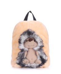 Детский рюкзак POOLPARTY с ежиком kiddy-backpack-hedge-grey