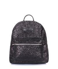 Рюкзак женский блестящий POOLPARTY Xs xs-bckpck-glitter-black