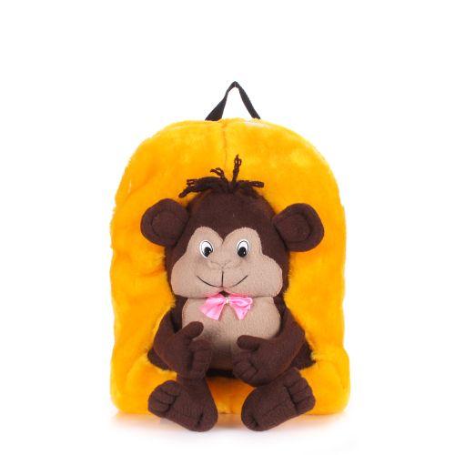 Детский рюкзак POOLPARTY с обезьяной kiddy-backpack-monkey-sunny