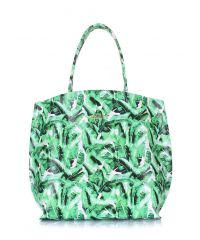 Кожаная сумка Pearl с пальмовым принтом pearl-palm