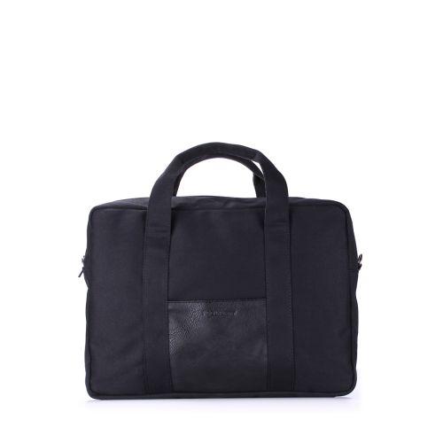 Коттоновая сумка POOLPARTY poolparty-college-black