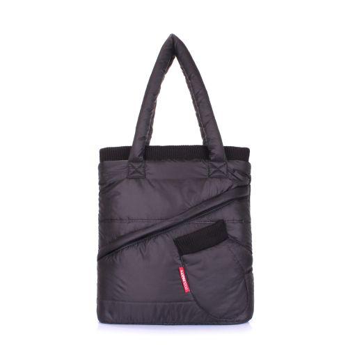 Стеганая сумка POOLPARTY mitten-black черная