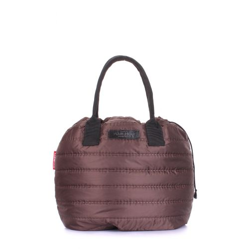 Стеганая сумка POOLPARTY muffin-brown коричневая