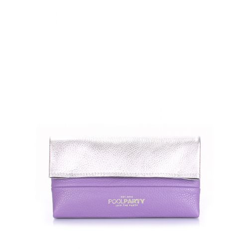 Кожаная косметичка-клатч POOLPARTY 2NITE 2nite-silver-violet