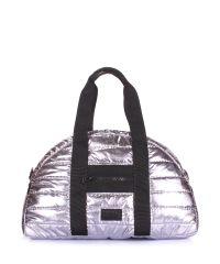 Стеганая сумка POOLPARTY Alaska alaska-stripe-silver