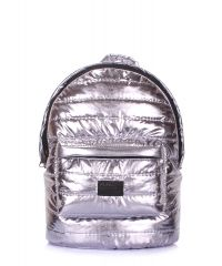 Рюкзак стеганый POOLPARTY backpack-theone-silver