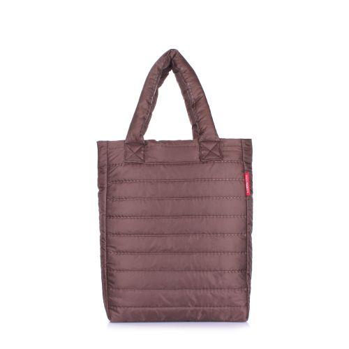 Дутая сумка POOLPARTY ns3-brown-new