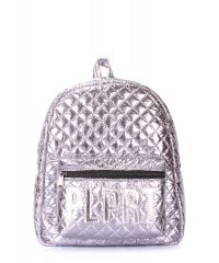 Рюкзак женский POOLPARTY Mini Plprt plprt-bckpck-stitch-silver