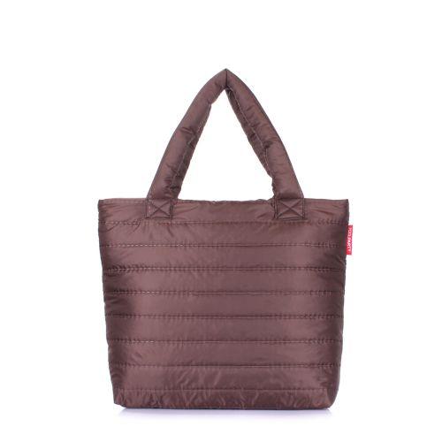 Дутая сумка POOLPARTY pp4-brown-new